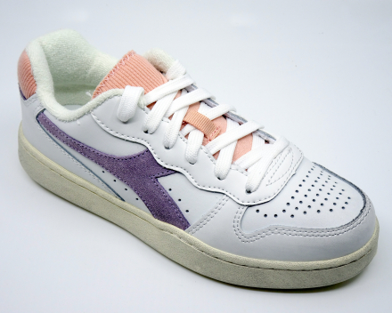 Diadora Mi Basket Low Icona - 100,00 € - wit/lila/roze 36/38/38.5/39/40/40.5