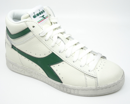Diadora Game L High Waxed - 100,00 € - wit/groen 38/38.5/40