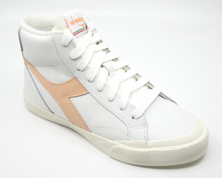 Diadora Melody Mid Leather Dirty - 100,00 € - wit/abrikoos 38/38.5/41