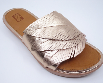 FitFlop Sola Feather Slides - 120,00 € - metallic roze 37/38/39/40/41