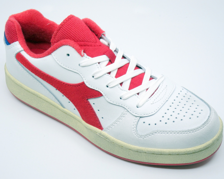 Diadora Mi Basket Low Used - (100,00 €) nu 80,00 € - wit/rood 37/38/38.5/39/40
