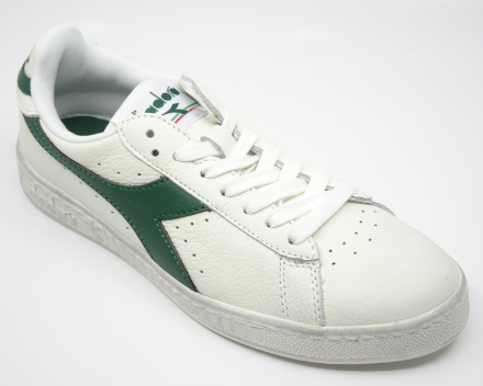 Diadora Game L Low Waxed - (90,00 €) nu 72,00 € - wit/groen 37/38/38.5/39/40