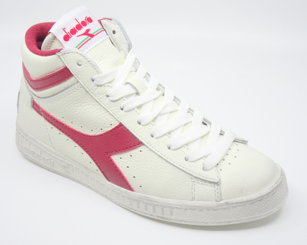 Diadora Game L High Waxed - nu 80,00 € - wit/rood 45