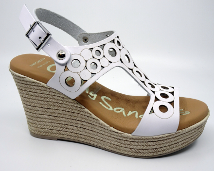 Oh My Sandals 4597 - (69,00 €) nu 62,10 € - wit 36/37/38/39/40