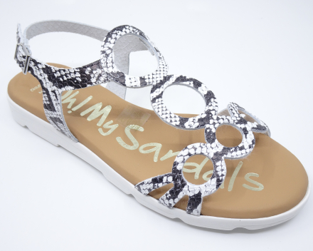 Oh My Sandals 4546 - (59,00 €) nu 53,10 € - wit 36/37/38/39/40/41