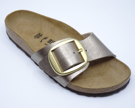 Birkenstock Madrid Big Buckle - nu 76,00 € - taupe 36/40